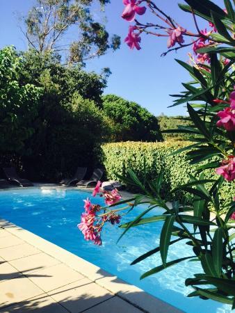 La maison de Justine : La piscina, la casa e la nostra stanza