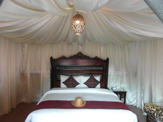 Wadi Rum Night Luxury C& King size bed in my tent & King size bed in my tent - Picture of Wadi Rum Night Luxury Camp ...
