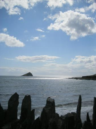 Wembury Beach: The view from the Mill