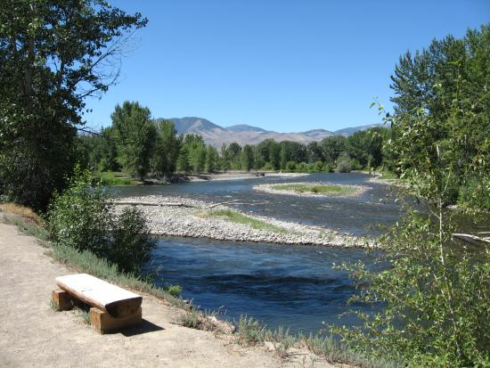 One view of the camping area - Picture of Challis Hot