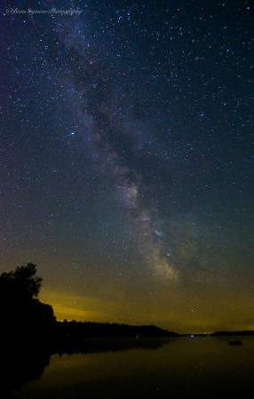 Sandy Point Resort & Disc Golf Ranch: Milky Way Over Squaw Lake: Photo by Beau Seymour