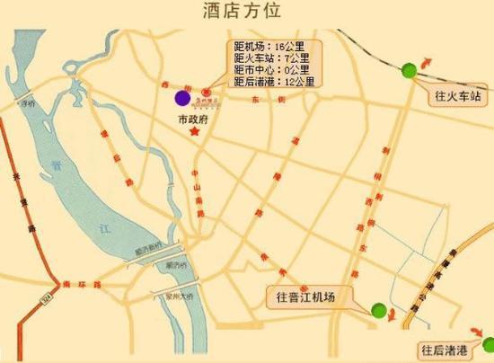 Quanzhou Hotel: Map