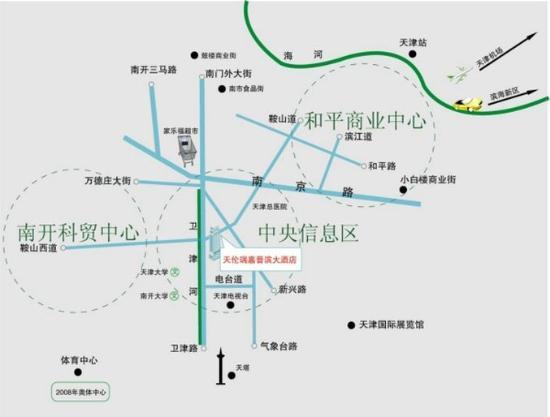 Jinbin International Hotel: Map