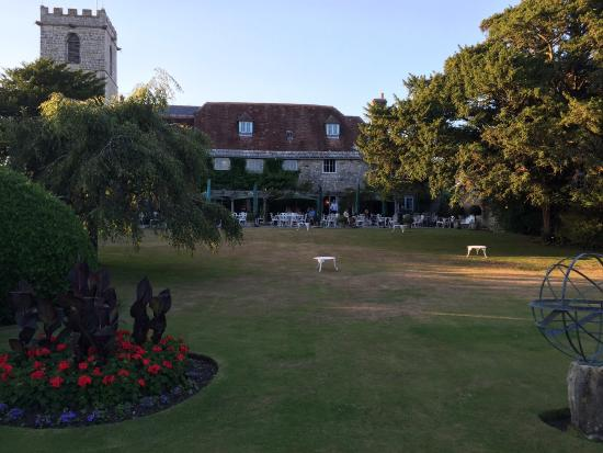 Abbots Cellar Restaurant at Priory Hotel: Priory splendour....beautiful grounds & fantastic cheeseboard!