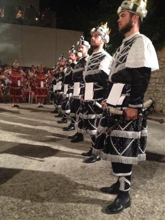 Moreska Sword Dancing: Great view of the traditional sword dancing