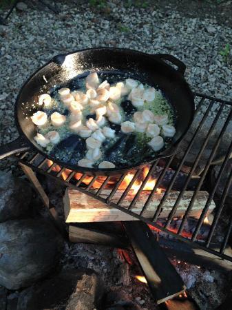Camp Taylor : shrimp scampi!