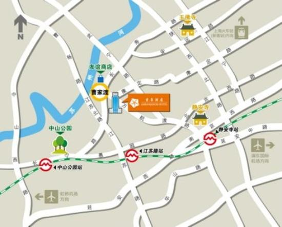 Ambassador Hotel: Map