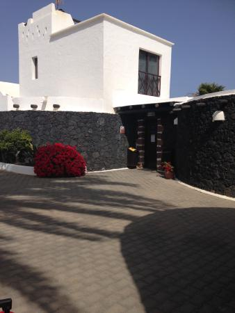 Reception next to our villa