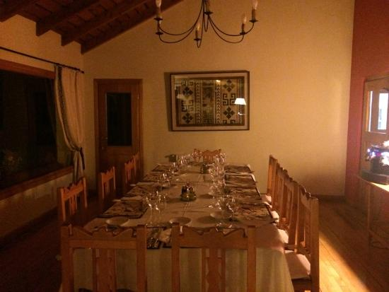 Challhuaquen Lodge: Sala de Jantar