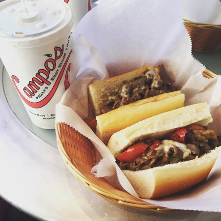 A beautiful cheesesteak.