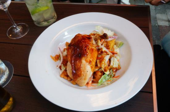 Chandler's A Restaurant: Their BBQ chicken dish on he menu.  We ordered two plates, grand kids had pasta.