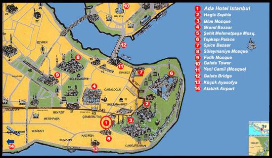 Ada Hotel Istanbul: Map