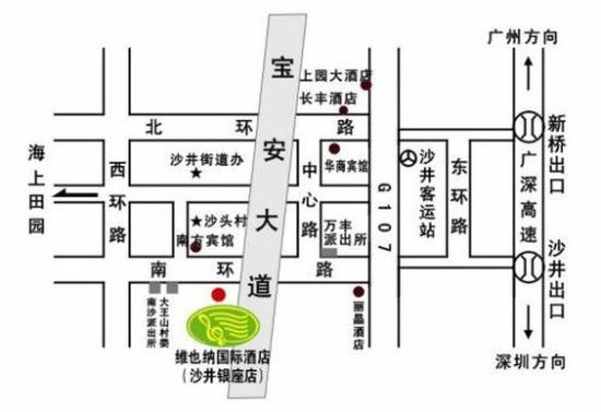 Vienna Hotel Shenzhen Shajing Nanhuan Road: Map