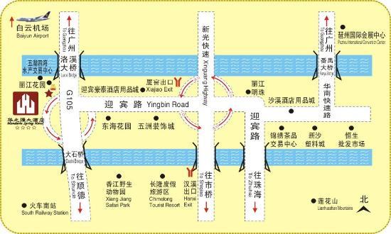 Mandarin Spring Hotel: Map