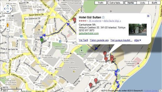 Gul Sultan Hotel: Map