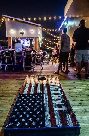 Landmark Bar U0026 Kitchen Fort Worth: Patio Games: Including Cornhole, Ring On  A