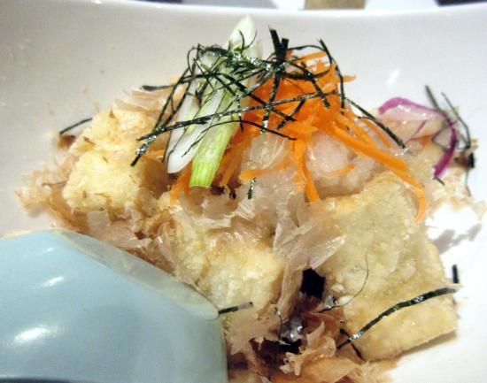 Sato Sushi: Agadashi Tofu, Sato's, (Ocean Blue) Sunnyvale, CA