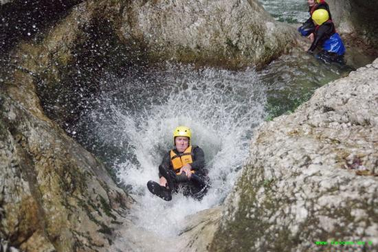 Bovec, Slovenië: Canyoning in the Susec