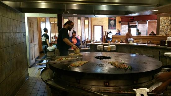 BD's Mongolian Grill: The grill they cook the customers food on, mine is between the metal arms