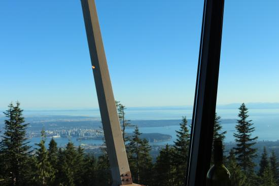 The Observatory At Grouse Mountain Amazing View From Restaurant