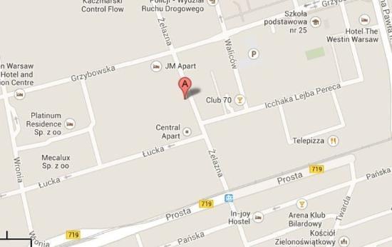 Platinum Apartments: Map