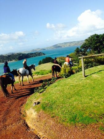 Waiheke Island, New Zealand: Liz and  my family