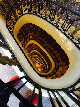 Four Seasons Hotel George V Paris: One of the staircases from the 8th floor