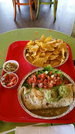 Cafe Rio: Way too much food for one person!