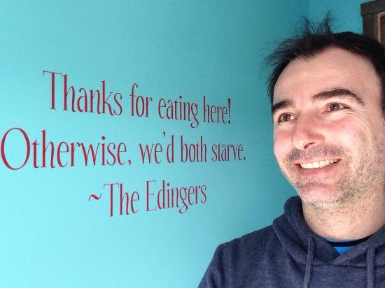 Thanks for your hospitality.. - Picture of Edinger's Filling Station ...