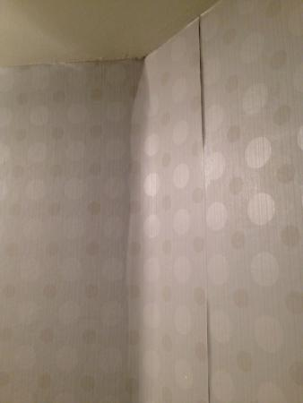 Crowne Plaza Arlington: Wallpaper Peel - Probably from the Heat!