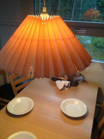 Broken lamp shade in a luxury cabin picture of ribe camping ribe camping broken lamp shade in a luxury cabin aloadofball Image collections