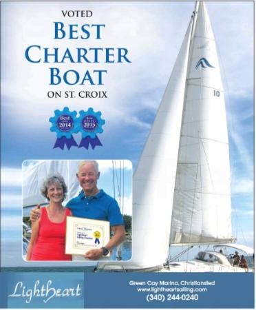 "Lightheart Sailing: Named ""Best Charter Boat on St. Croix"" 2015 & 2014"