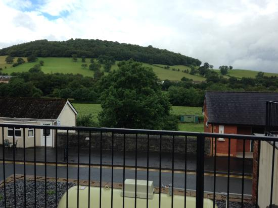 Usk & Railway Inn: View from outside seating area.