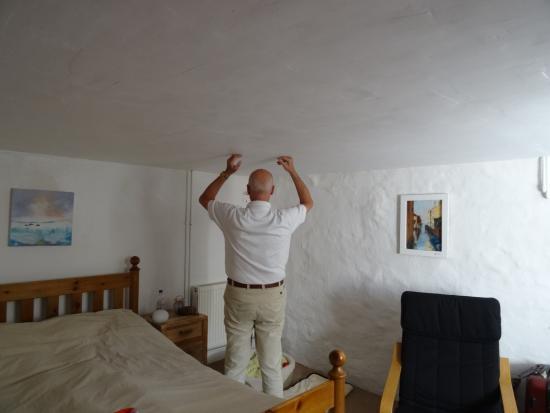 Manaccan, UK: Zimmerdecke