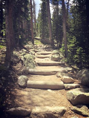 Mary's Lake Lodge Mountain Resort and Condos: Hiking Trails- Breathtaking (in two different ways) :)