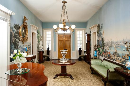 Natchez, MS: Entrance Hall of Main House
