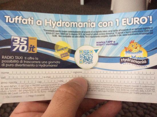 coupon hydromania