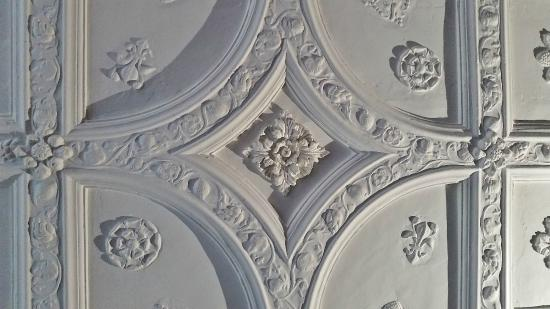 Bessie Surtees House Ornate Plaster Ceiling Panel In Main Room