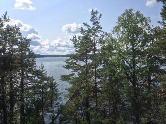 Taipalsaari, ฟินแลนด์: Looking out over Lake Saimaa from the Riutan laavu