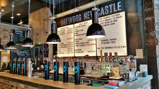 The bar at brewdog newcastle picture of brewdog newcastle newcastle upon tyne tripadvisor - Picture of bar ...