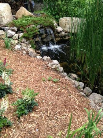 Ike's Minnetonka: Patio waterfall