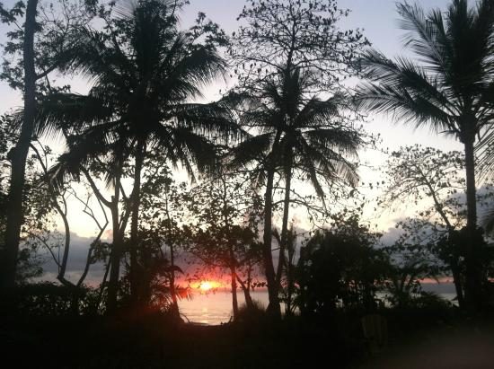 Blue Osa Yoga Retreat and Spa: Walking out to the beach for sunrise