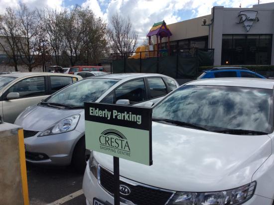 Cresta Shopping Centre: Elderly parking.