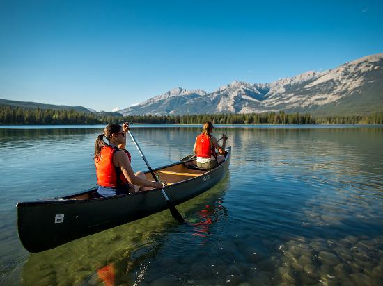Canoeing in Jasper National Park