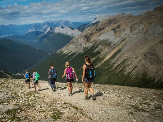 Hiking Sulphur Skyline Trail in Jasper