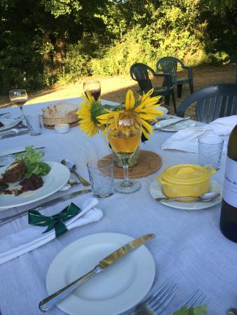 Tomlins Vegetarian Guest House: dinner