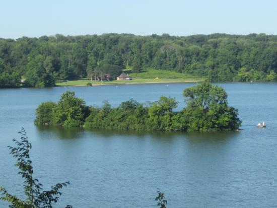 Cowan Lake State Park: View of the lake.