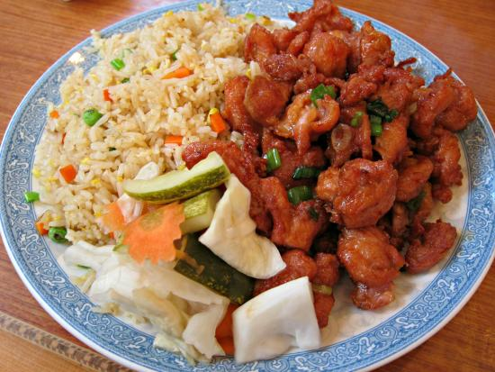 bbq chicken with fried rice plate - Picture of HENG LAY ...
