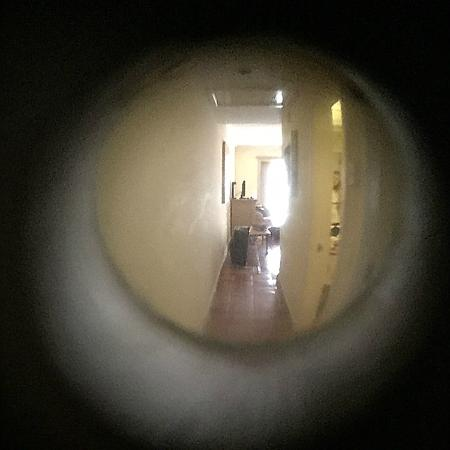 Pueblo Bonito Los Cabos: Peep hole turned around to spy
