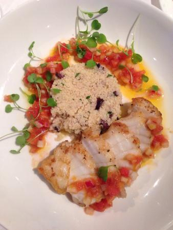 L'Ecole: Monkfish and Quinoa dish during Restaurant Week